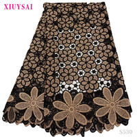 2020 High Quality African Lace Fabric With stones African Embroidery Guipure Lace fabric for Nigerian Net lace women Dress S530