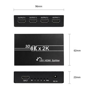Image 3 - HD 4K HDMI Splitter 1X4 1X2Port 3D UHD 1080p 4K*2K Video HDMI Switch Switcher HDMI 1 Input 4 Output HUB Repeater Amplifier
