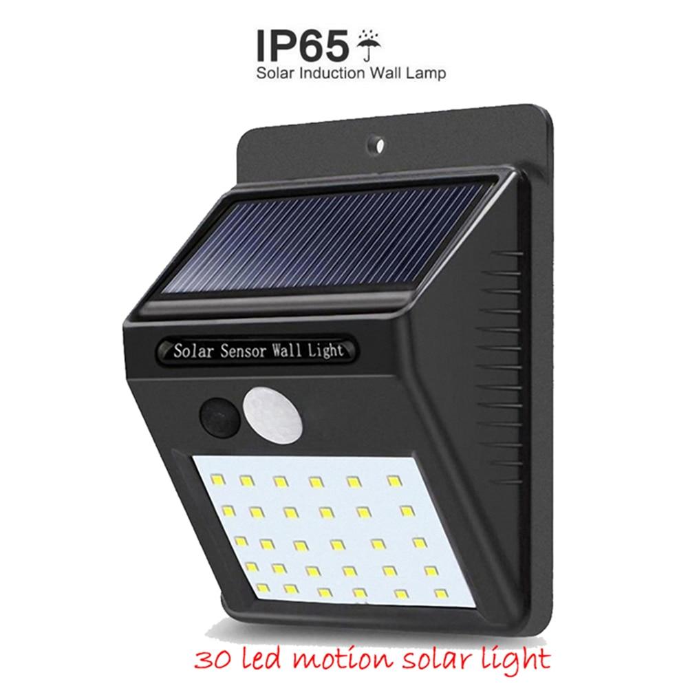 1-4Pcs 30 LED Solar Light PIR Motion Sensor Wall Lamp Energy-saving Lights Waterproof Outdoor Garden Floodlights Spotlights Ener