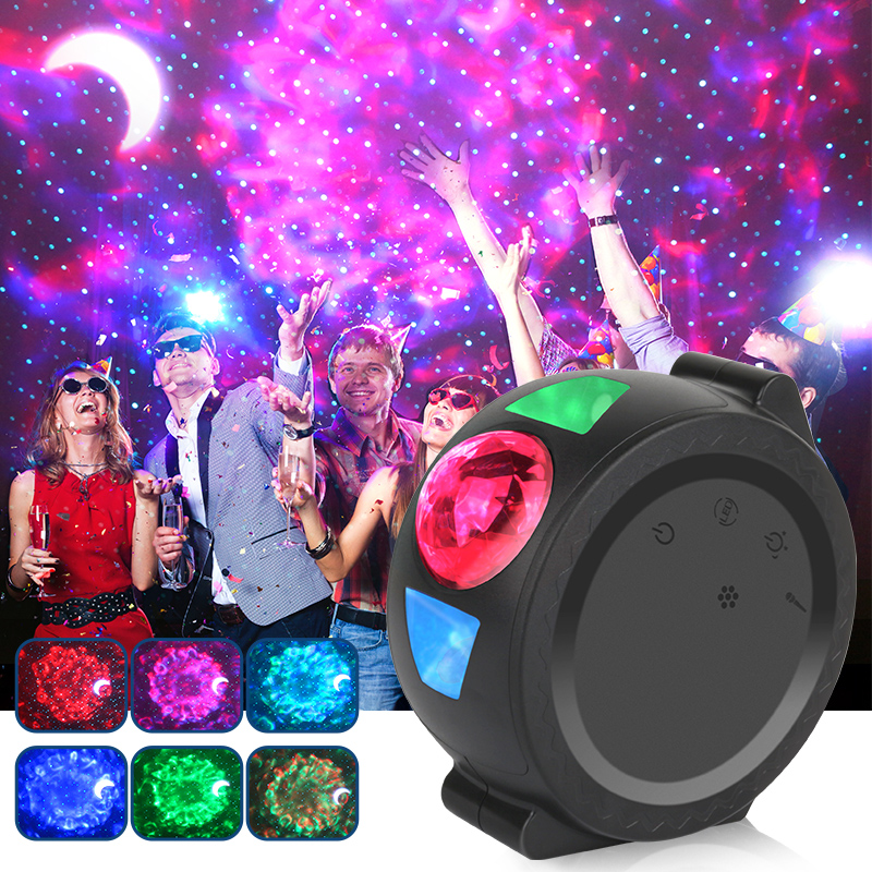 LED Night Light Starry Star Projector Sky Projectors Lights USB Cloud Ocean Lamp Waving Lighting Christmas Gift For Baby ночник