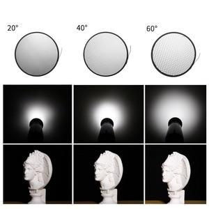 """Image 4 - Selens 7 """"18 см стандартная тарелка отражателя 20 40 60 градусов сотовая сетка мягкий диффузор Лампа Тень для стробоскосветильник Bowens"""