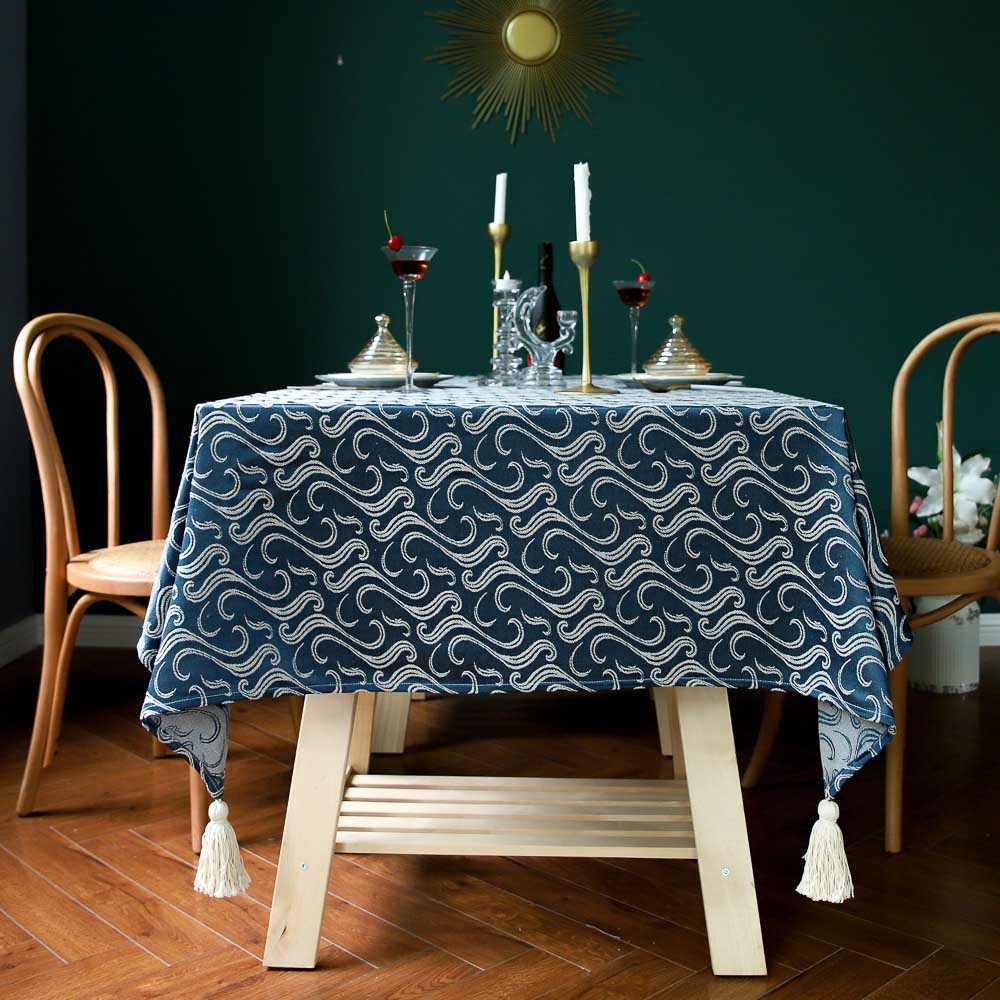 Luxury Decorative Totem Tablecloth Cotton Linen Embroidered Tablecloth Rectangular Tablecloths Wedding Dining Tea Table Cover