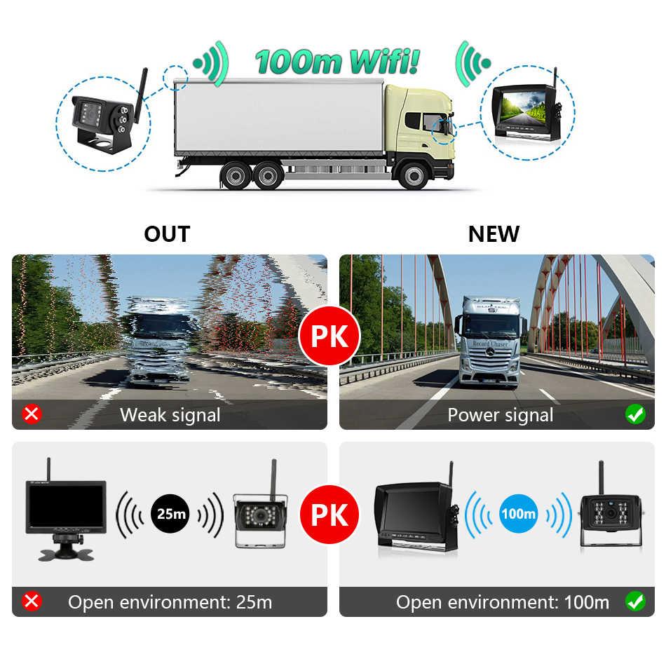 """Greenyi 1280X720 Ad Alta Definizione Ahd Senza Fili Del Camion Dvr Monitor 7 """"di Visione Notturna di Inverso di Backup Registratore Macchina Fotografica di Wifi per Bus Auto"""