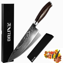 XITUO 8 inch damascus knives vg10 japanese kitchen 67 layers Chefs Knife Cleaver Santoku Slicing Ergonomic Equipment