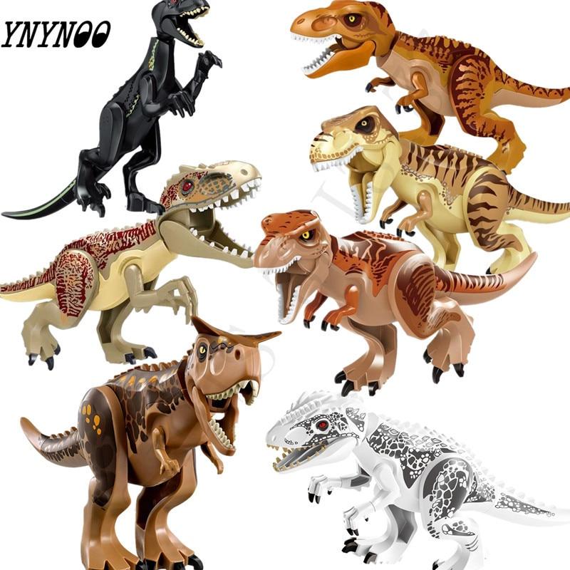 Jurassic World 2 Building Blocks Lepining Dinosaurs Figures Bricks Tyrannosaurus Rex Indominus Rex I-Rex Assemble Kids Toys