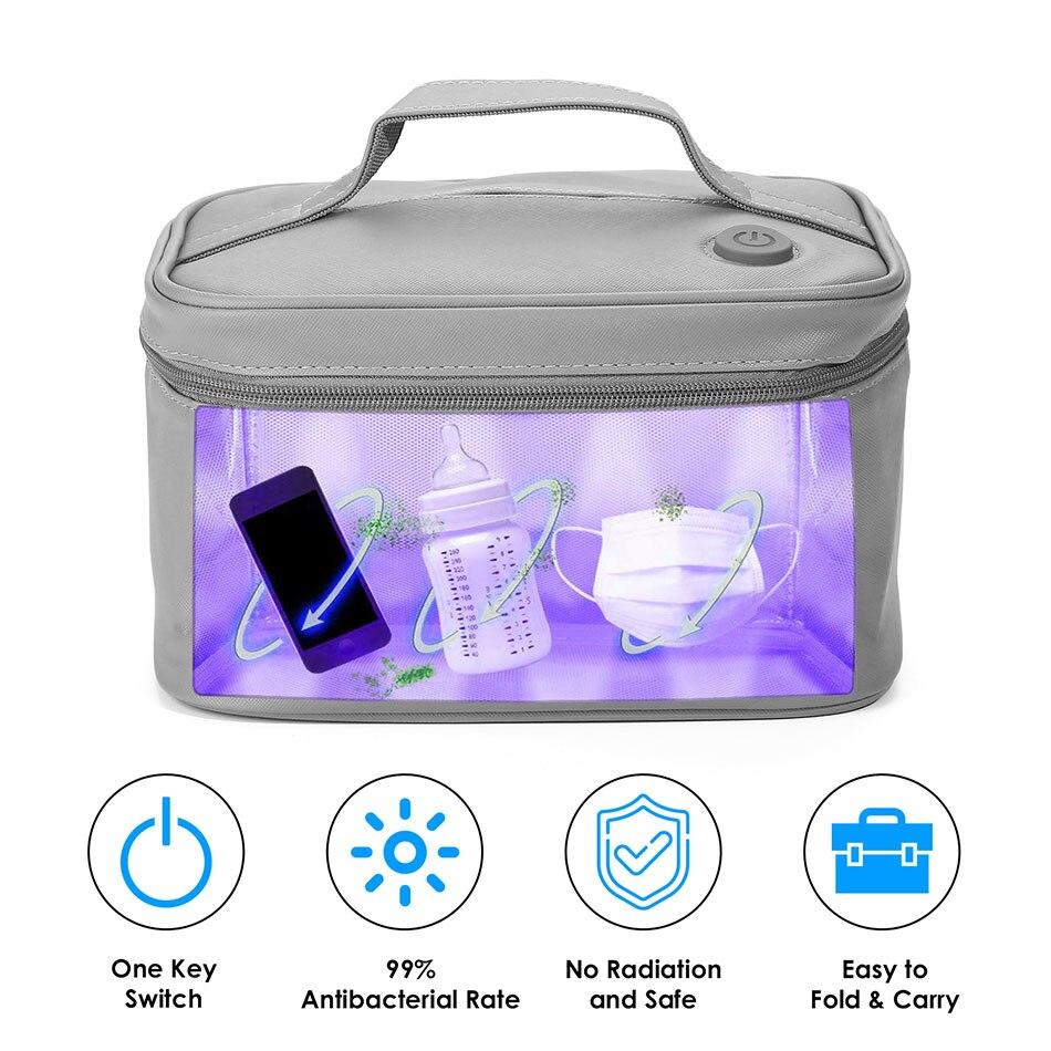 Ультрафиолетовая озоновая лампа, двойная сумка для стерилизации UVC, USB-интерфейс, ультрафиолетовый стерилизатор для зубных щеток