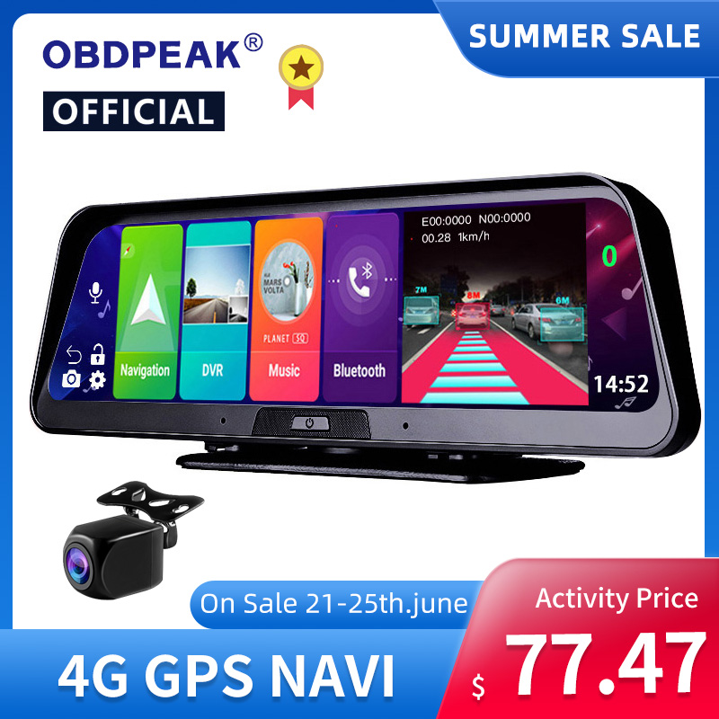 10 Inch Android 8.1 2GB+32GB ADAS 10 in 1 DashCam Car DVR Mirror Camera 4G WIFI GPS Bluetooth Full HD 1080P Video Recorder