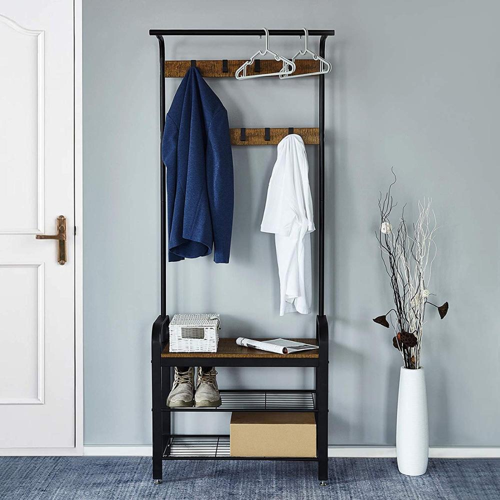 Coat Rack Hangers Floor Standing Iron Clothes Hanging Storage Shelf Clothes Hanger Racks Wardrobe Clothes Rack Bedroom Furniture