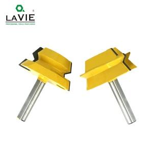 Image 3 - LAVIE 2pcs 8mm Shank Lock Miter Router Tenon Bits 22.5 องศากาว Joinery เครื่องตัดชุดสำหรับไม้เครื่องตัดไม้ MC02065