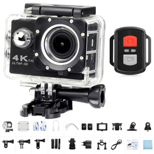 цена на 4K Ultra HD Action Camera WiFi 2.0'' 12MP 170D Wide Angle Sports Camera Go waterproof Pro Video Recording Sport DV Helmet Camera