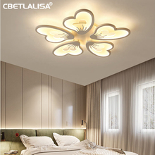 LED lamp for living room dining room, bedroom, kitchen, home decoration luxury chandelier 220 v-shaped flower with remote control 3 year warranty super
