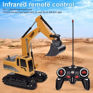 RC Trucks Mini Remote Control Bulldozer 1:24 Alloy Plastic Engineering Car Dump Truck Crane Excavator Electric Vehicle Toys Gift