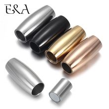 2pcs Stainless Steel Magnetic Clasps Hole 6mm for Leather Cord Magnet Lace Buckle for Bracelet Jewelry DIY Making Accessories stainless steel magnetic clasps hole 12 6mm for leather cord bracelet magnet clasp buckle diy jewelry making supplies accessory
