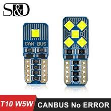 W5W T10 Светодиодная Лампочка для салона автомобиля Canbus без Ошибок T10 белое автомобильное боковое освещение лампа автомобильный Стайлинг Авто 12 В для Mercedes W203 W205
