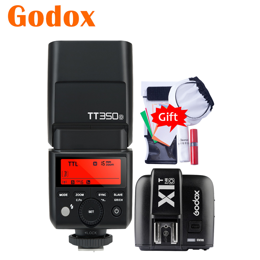 Godox Mini TT350O TT350 O 2.4G TTL GN36 HSS Camera Flash Speedlight X1T O Transmitter Trigger For Panasonic Olympus Lumixflash speedlightcamera flashspeedlight trigger -