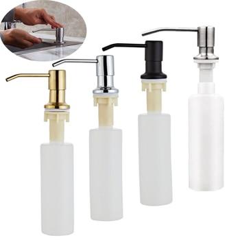 300ML Kitchen Sink Soap Dispenser Black ABS Dispenser Detergent Liquid Soap Lotion Dispensers Stainless Steel Head 1