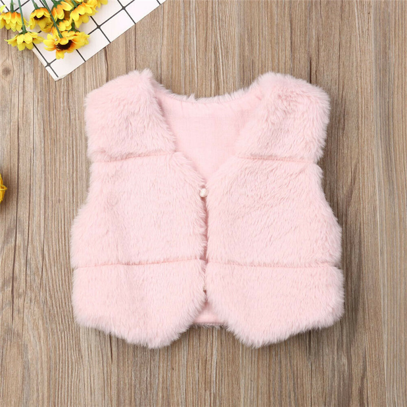 Imcute Children Girls Faux Fur Vest Autumn Winter Fashion Thick Warm Colorful Waistcoat Kids Outerwear Baby Christmas Clothes