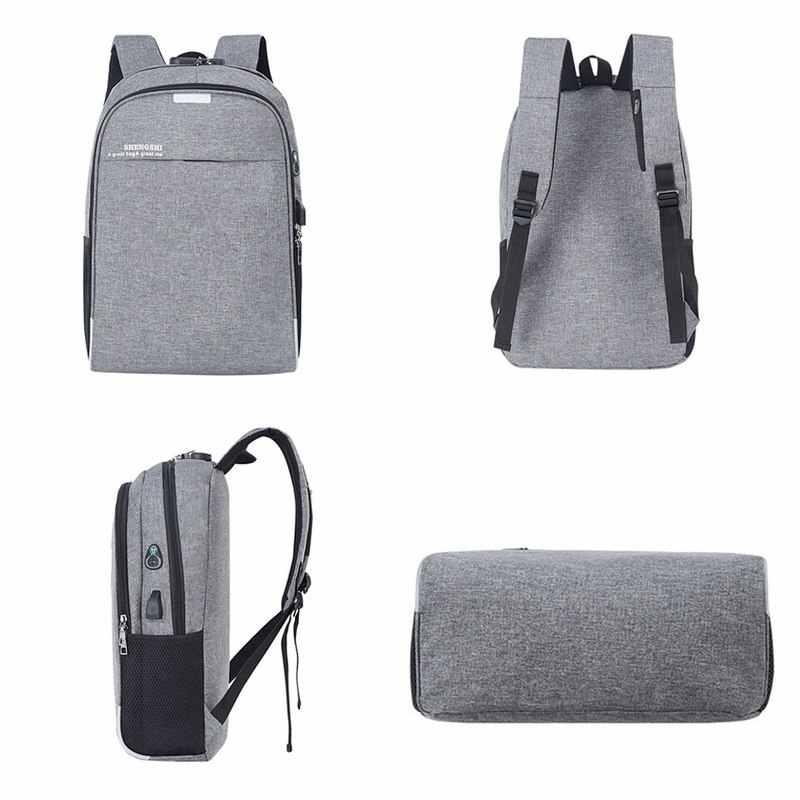 Ba Lô Laptop Sạc USB Backbag Du Lịch Daypacks Nam Trường Chỗ Trống Ba Lô Trộm Mochila Sinh Đựng