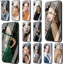 EWAU Miranda Kerr Tempered Glass phone case for iphone 5 5s SE 6 6s 7 8 plus X XR XS 11 pro Max