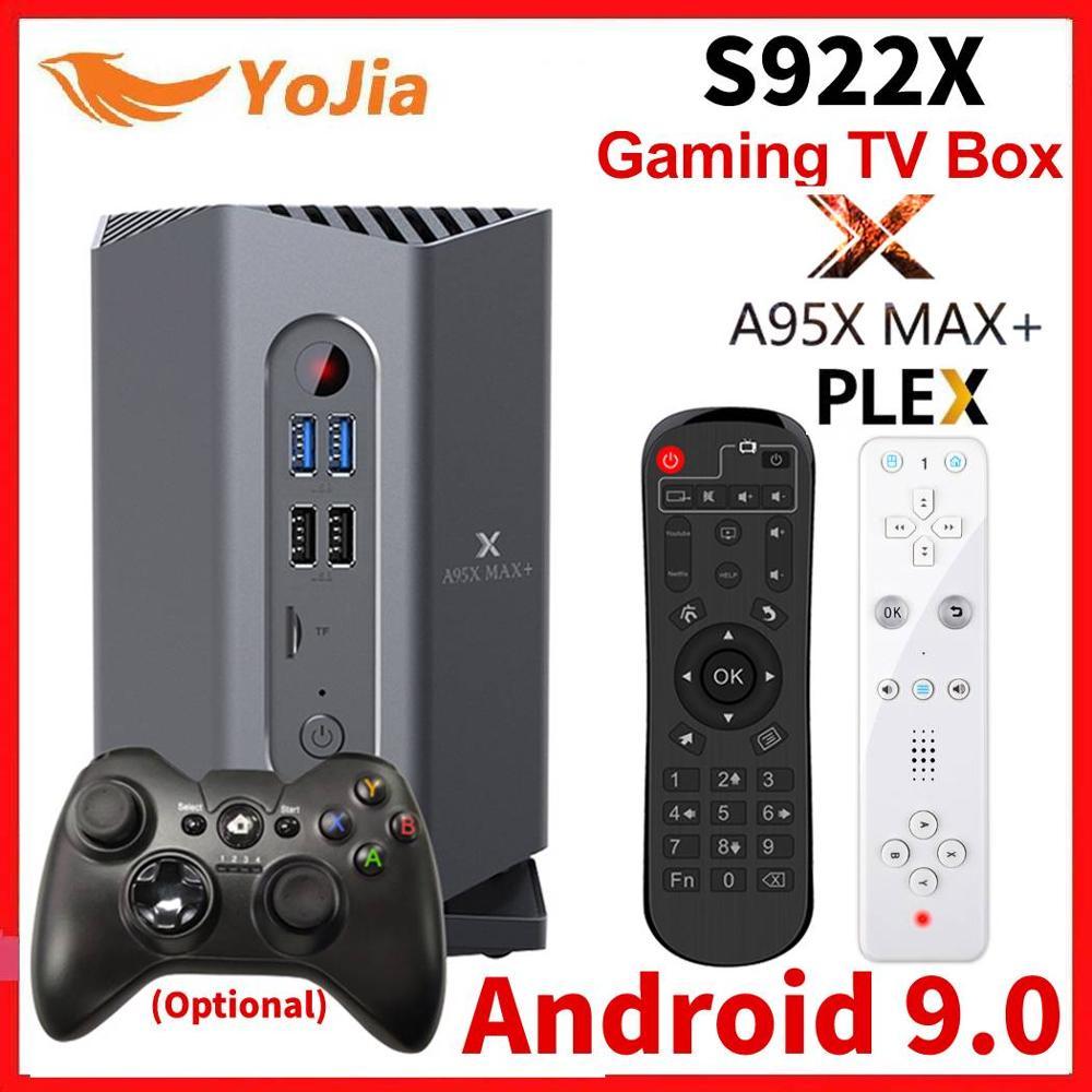 Boîte de télévision de jeu A95X MAX PLUS Amlogic S922X Android 9.0 boîte de télévision 4GB RAM 64GB ROM 1000M double Wifi OTA PLEX lecteur de serveur multimédia