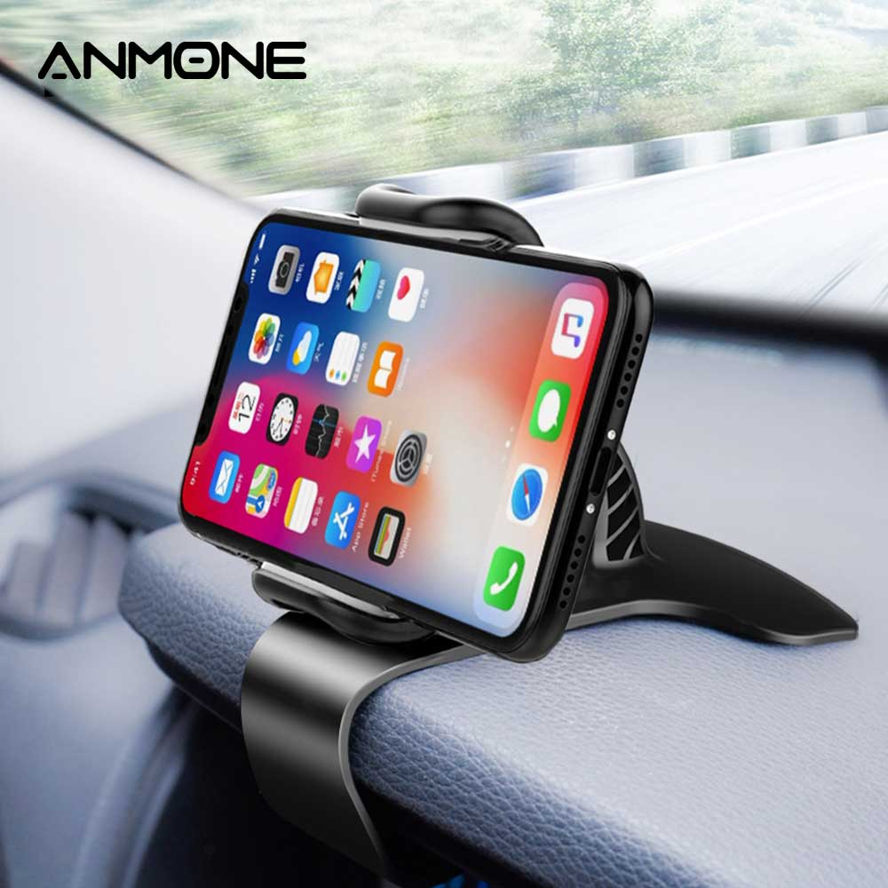 ANMONE Newest Car Phone Holder Newest 360° Rotation Adjustable HUD Dashboard Mount Car Holder For Iphone 11Pro Samsung Galaxy S9