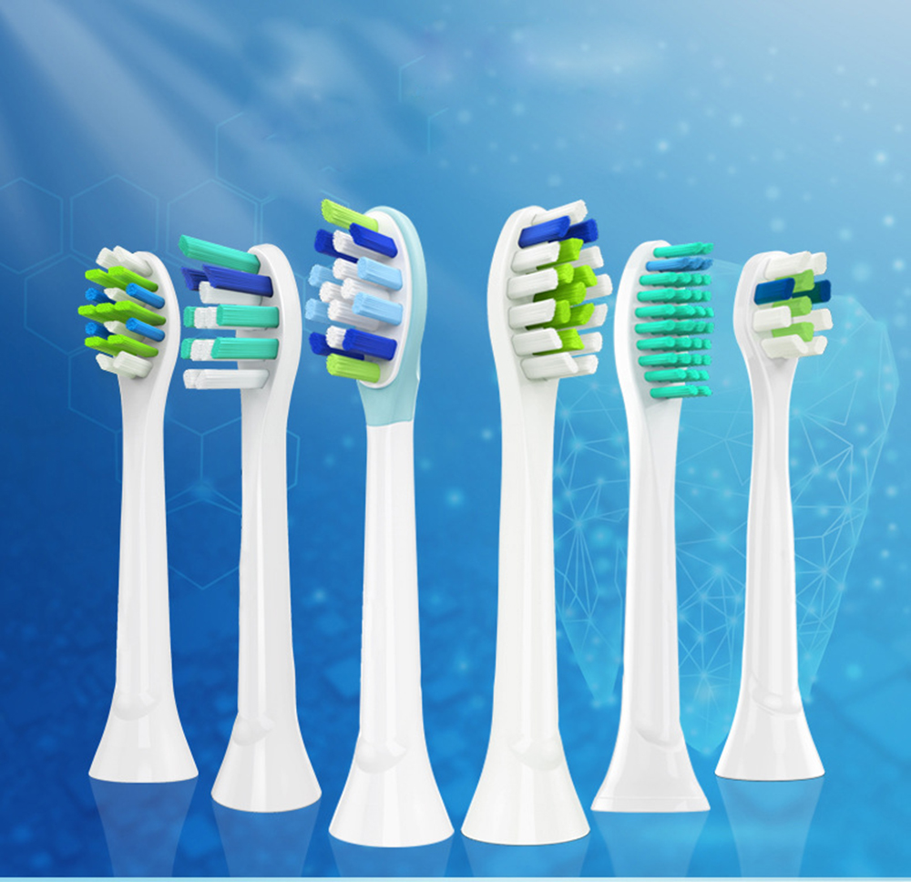 20PCS YH725 Electric Toothbrush Replacement Heads Fits For Philips HX3 HX6 HX9 Series Toothbrush Head P-HX-6064 image