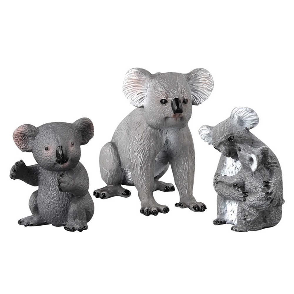 シミュレーションミニコアラ動物ソリッドモデル置物デスク飾り教育玩具人形フィギュアコレクション子供のための子供のギフト新