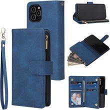 Wallet-Case Handbag Phone-Cover Zipper Magnetic Mini for 12 Closure Vintage 12-Pro