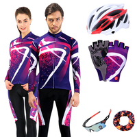 Long Sleeve Cycling Jersey Sets Men 2019 Team Pro Bike Clothing Cycle MTB Wear Sports Bicycle Clothes Autumn Women Cycling Kit
