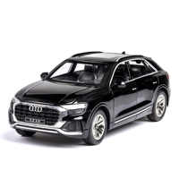1:24 high simulation Audi Q8 with sound and light pull back alloy toy car model toys for children gifts Cars Metal Model rc car