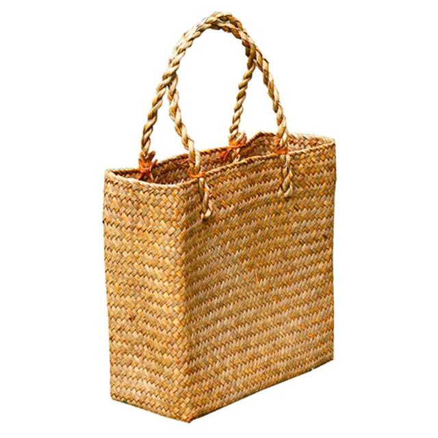 Handmade Woven Tote Straw Bag Large Shopping Hand Bags for Summer Beach Travel 1