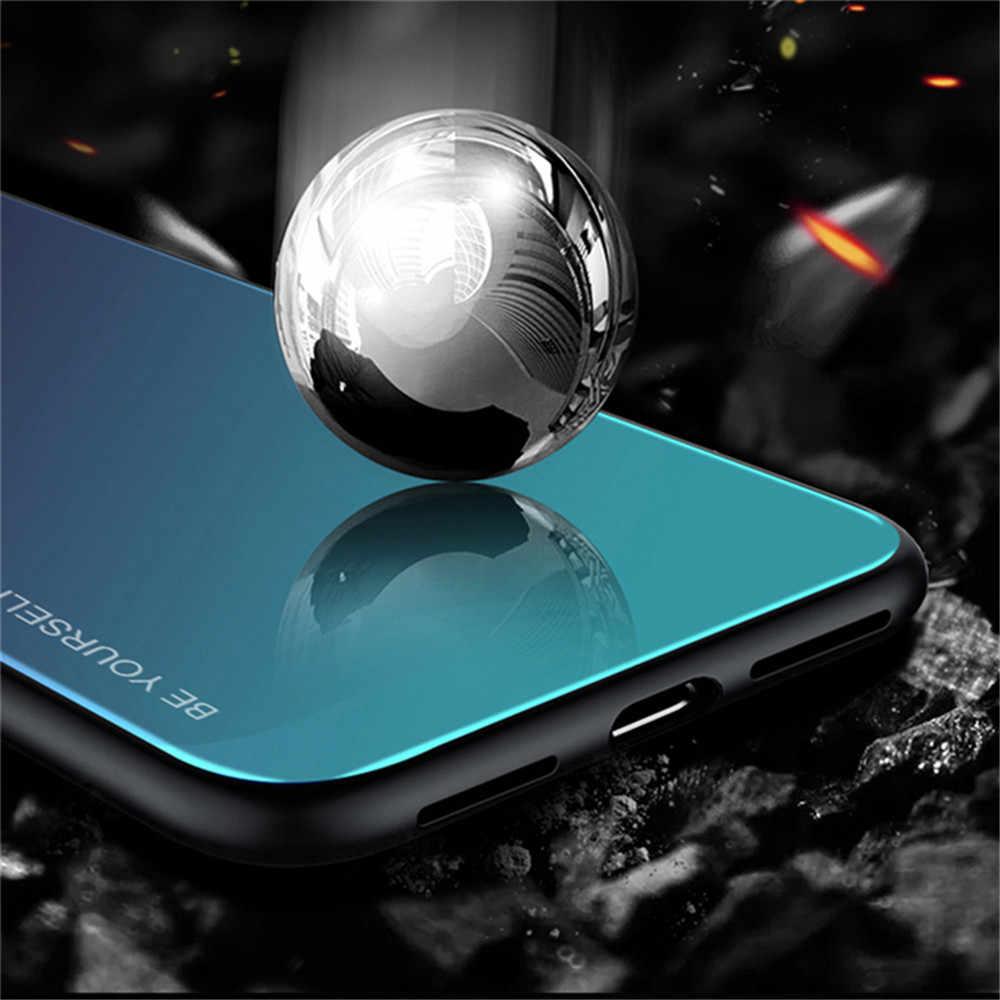 Gehärtetem Glas Fall Für Xiaomi Redmi Hinweis 8T 8 7 6 Pro 8A 7A 6A K20 pro 5 plus gradient Bunte Fall für Red mi Hinweis 8t 7 8 pro