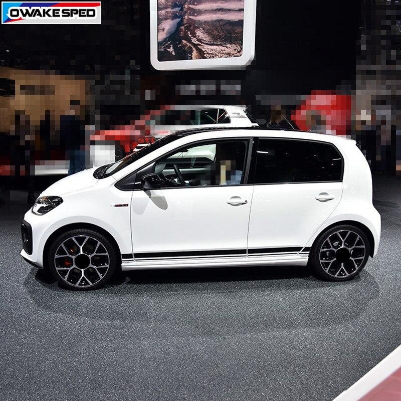 Гоночный стайлинг полосы автомобильная дверь боковая юбка наклейка для Volkswagen Cross Up GT Move High Street Up 3-5 дверь автомобильный кузов декор наклейка