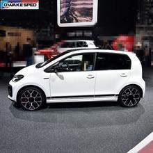 Racing Styling Strepen Autodeur Side Rok Sticker Voor Volkswagen Cross Up Gt Bewegen High Street Up 3-5 deur Auto Body Decor Decal