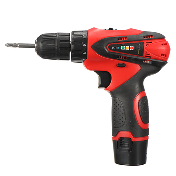 Best Selling DC 12V Power Drills Two Speed Electric Screwdriver 2 Batteries 1 Charger Screw Driver Tools Kit Repair Tool