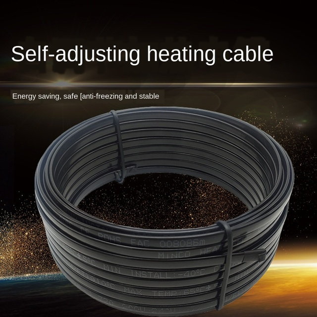 Câble chauffant auto-régulant étanche 220V 230V 240V | Système de traçage de la chaleur contre le gel des canalisations