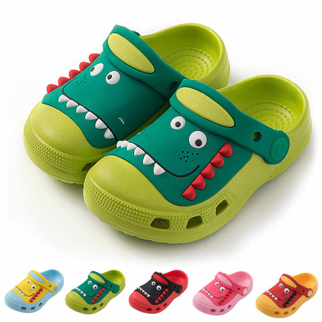 Summer Baby Boys Girls Slippers Cartoon Dinosaur Toddler Beach Sandals Rubber Slippers Flip Flops Shoes детская обувь Terlik