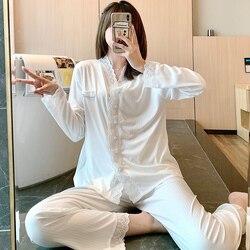 Pyjama de maternité en coton fin pour femmes enceintes, vêtements d'allaitement, ensemble de salon, été et automne