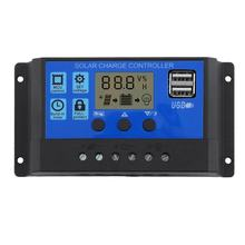 12v/24v10a Solar Controller Battery Charger Hd Display Controller Usb Output 3a(China)