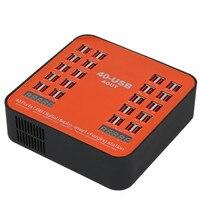 40 Port USB evrensel çok portlu akıllı Tablet telefon evrensel şarj istasyonu 40A 200W yüksek güç şarj cihazı