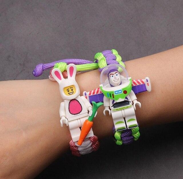 История игрушек 4, браслет вуди, базз, светильник, мстители, финал, железный человек, паук, браслет, строительные блоки, Actiefiguren, детский подарок