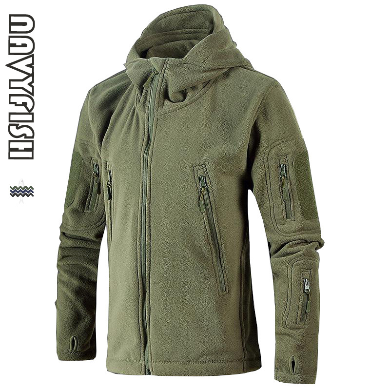 New Military Tactical Outdoor Soft Shell Fleece Coat Men Army Polartec Sportswear Thermal Hunt Hiking Sport Hoodie Coats