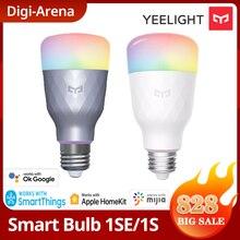 Yeelight 1S/1SE E27 6W RGB bombilla LED inteligente Control de voz inalámbrico de luz de colores de 100-240V apoyo Mi casa de Google
