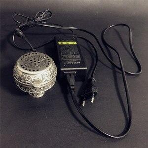 Image 2 - Arabischen Silber Metall Shisha Shisha Spezielle Holzkohle Elektrische Ofen Halter Carbon Herd Chicha Schüssel Shisha Rohre Zubehör