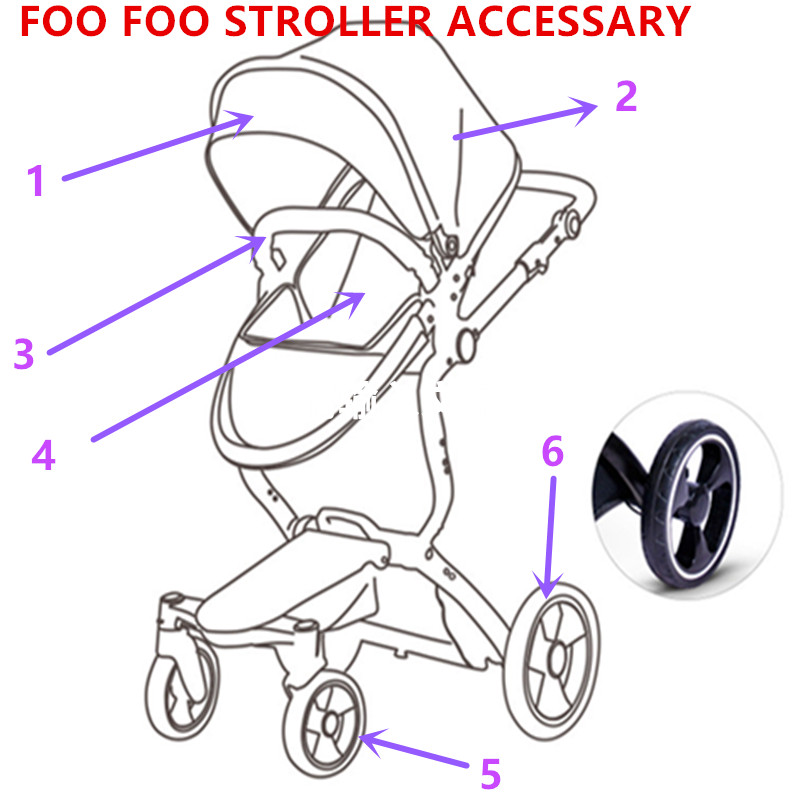 FOOFOO  Foo Foo Vinng  Ibeis Landscape Stroller Accessories Armrest Handle Front Wheel Rear Wheel Canopy Sun Cover Replacement