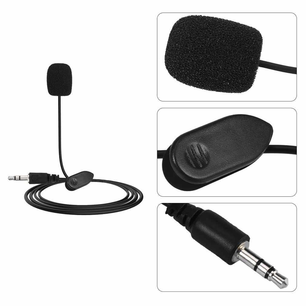 MIni Studio Pidato Mikrofon 3.5 Mm PLUG MIC Kabel Mikrofon untuk Video Conference Komputer PC Desktop Notebook Plug And Play