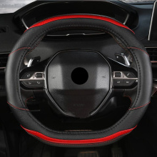 New 5 Colors Car-styling Sport Auto Steering Wheel Covers Anti-Slip 100% Micro Fiber Leather For Peugeot 3008 4008 5008