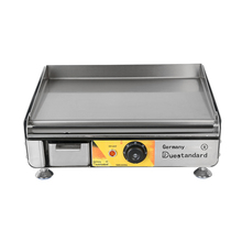 Teppanyaki Electric Griddle Stainless Steel Flat Pan Grill Countertop Frying Professional Outdoor Hiking Camping BBQ Grill 220v commercial stainless steel all flat grill griddle bbq plate electric contact grillplate