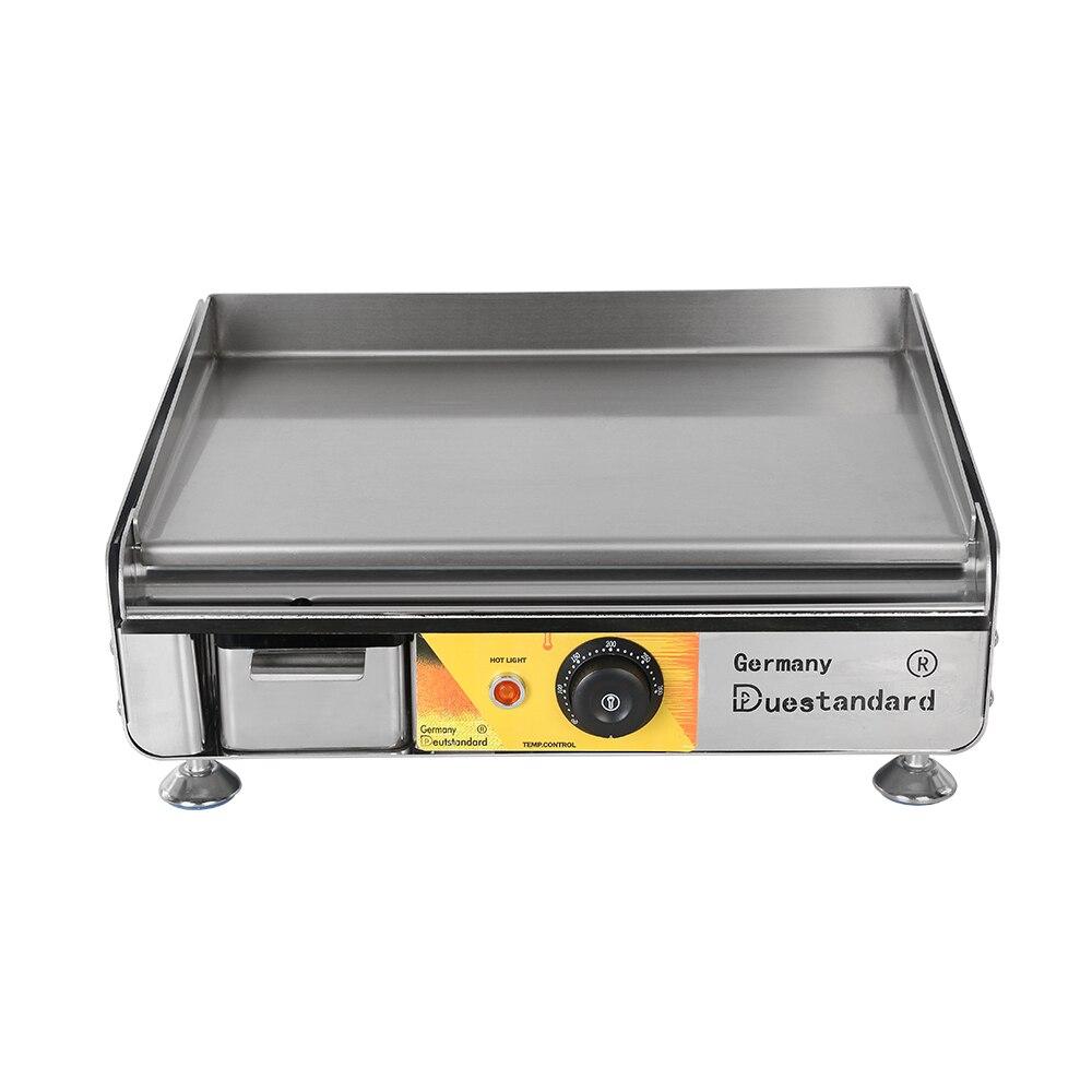 Teppanyaki plancha électrique inox plat poêle gril comptoir friture professionnel extérieur randonnée Camping cuisine cuisine