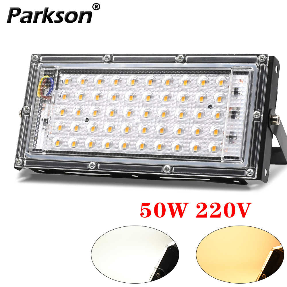 Reflektor Lampu Sorot Led 50W AC 220V 230V Outdoor Lampu Lampu Lampu Sorot Led Flood Light Projector Eksterior Tahan Air